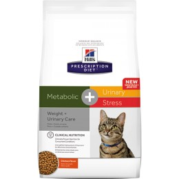 Hill's Prescription Diet Feline Metabolic + Urinary Stress per a Gats