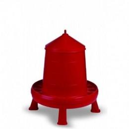 Tolva de Plàstic amb Potes per a Gallines i altres Aus - Color Vermell