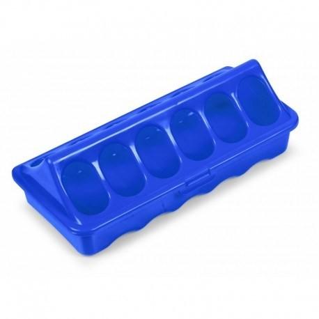 Menjador de Plàstic Vermell per Pollasters de 1ª Edat - 3 mides disponibles