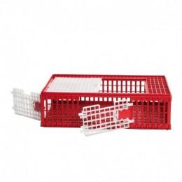 Gàbia de Transport de Plàstic per a Aus amb 2 Portes