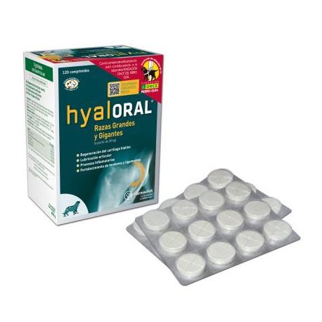 Hyaloral Comprimits - Complement alimentari per a gossos grans i gegants